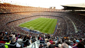 Foto de um estádio