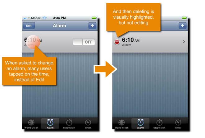 Teste de usabilidade no iPhone