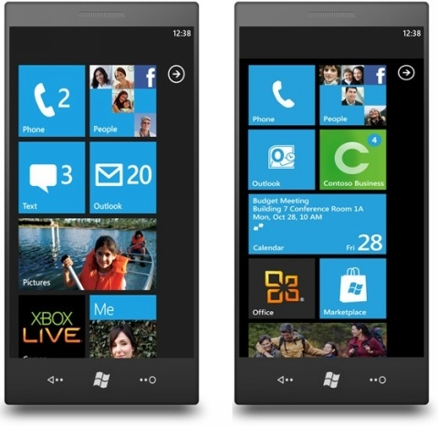 Interface do Windows Phone